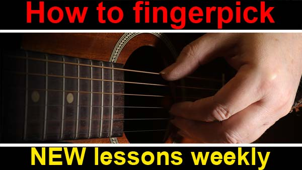 how to play the guitar fingerstyle of fingerpicking style, new weekly guitar lessons